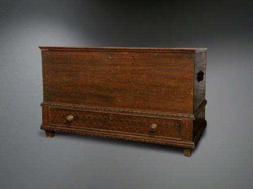 georgian welsh pine coffer blanket box or mule chest