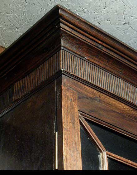 georgian welsh oak bureau bookcase c1780 - photo angle #2