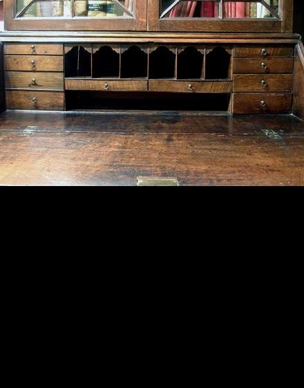 georgian welsh oak bureau bookcase c1780 - photo angle #4