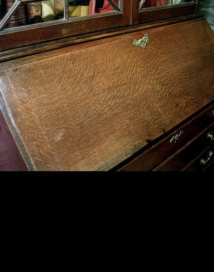 georgian welsh oak bureau bookcase c1780 - photo angle #5
