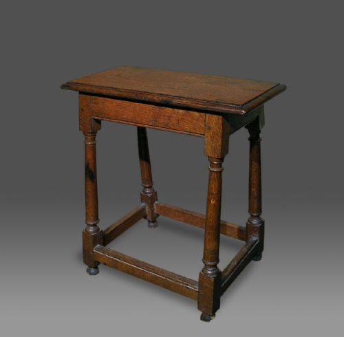 georgian welsh oak joined or joint stool c1770