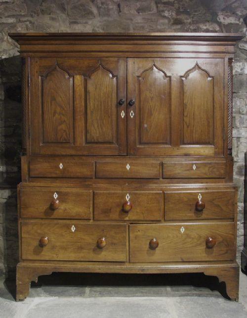 georgian welsh oak cupboard circa 1800