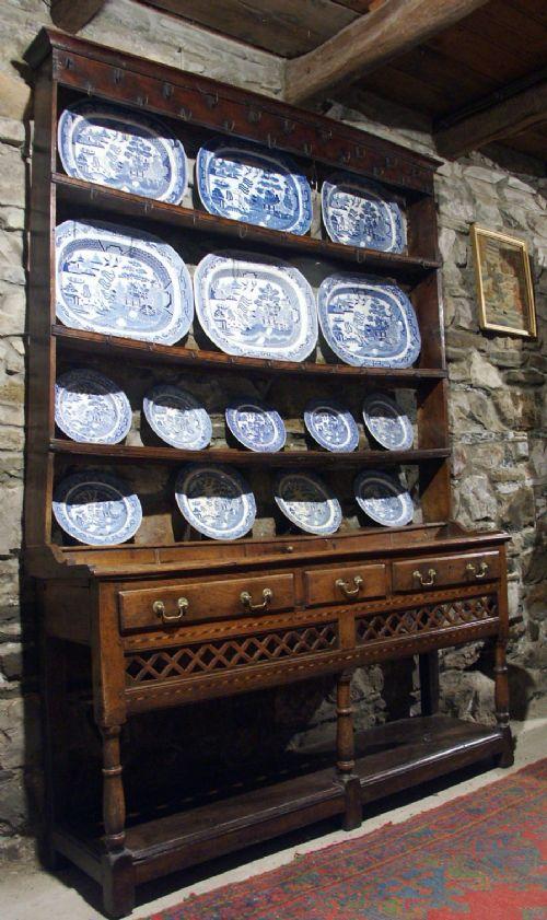 welsh oak potboard dresser circa 1750