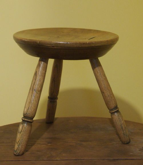 Welsh Ash And Sycamore Milking Stool Circa 1850 421558