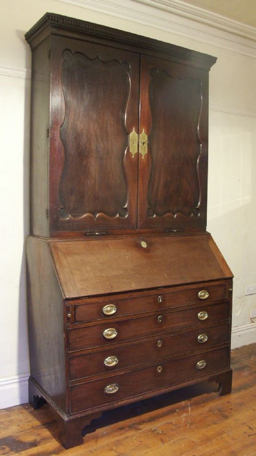 mahogany bureau bookcase or cabinet circa 1740