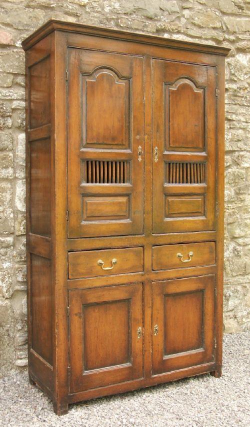 rare welsh pine food cupboard c1780