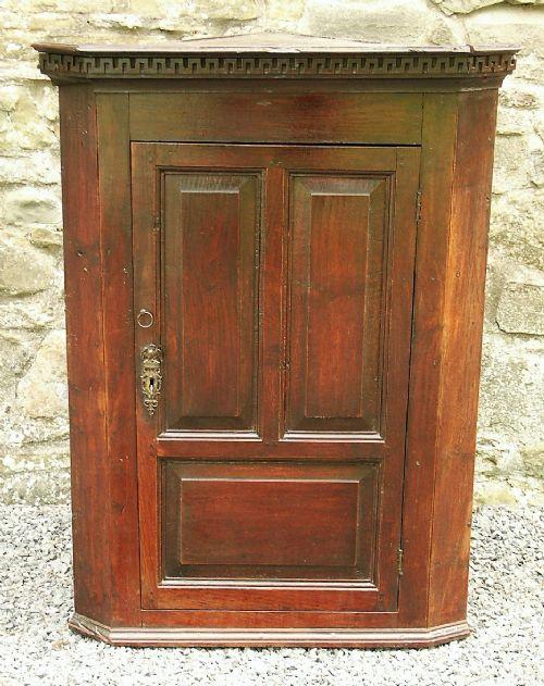 small welsh oak corner cupboard c 1770