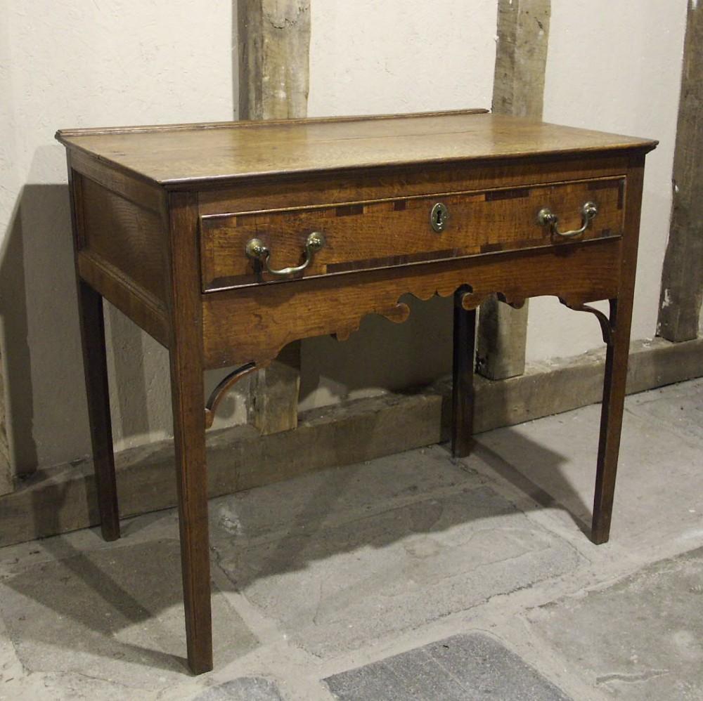 welsh oak side table circa 1780