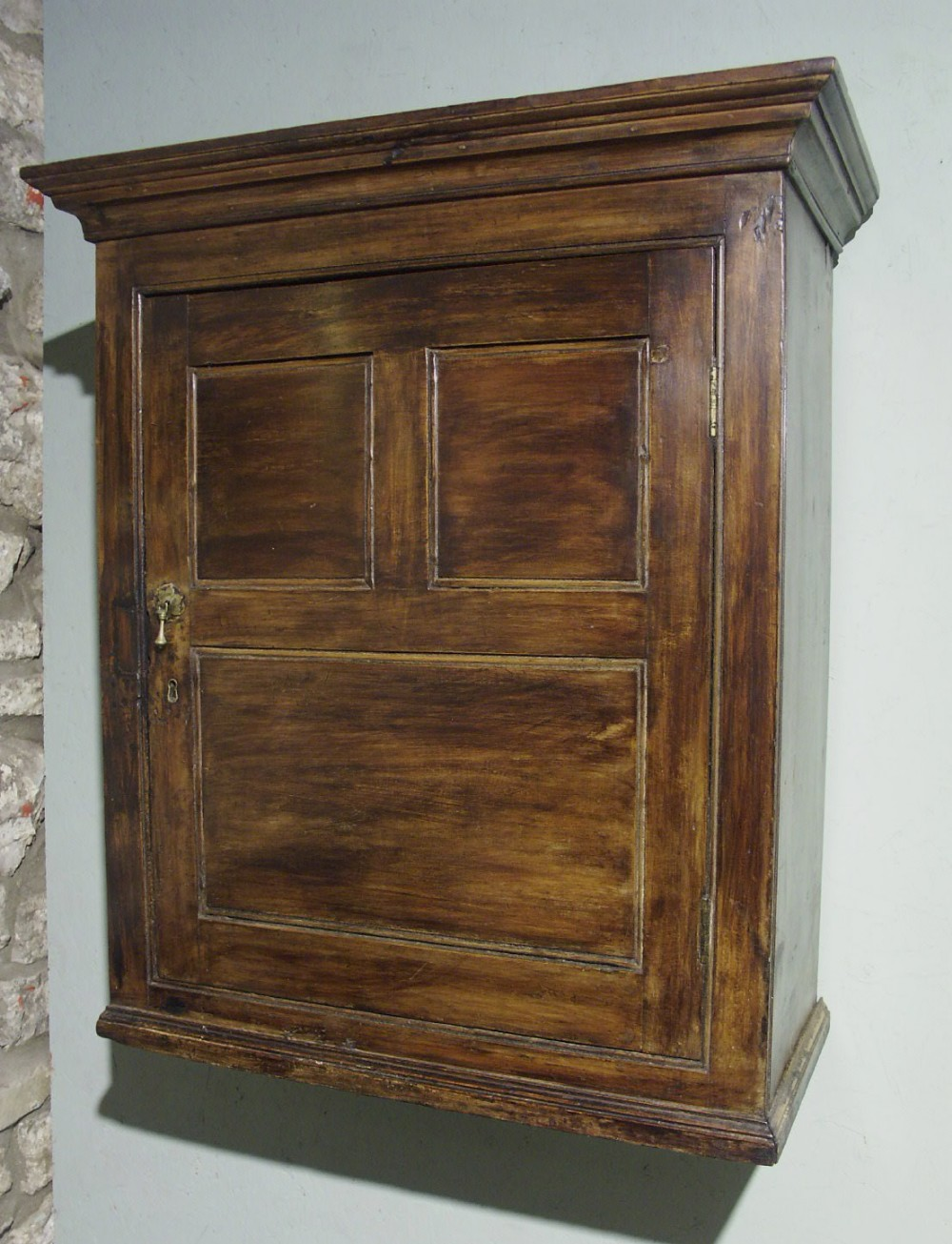 welsh fruitwood spice cupboard circa 1780