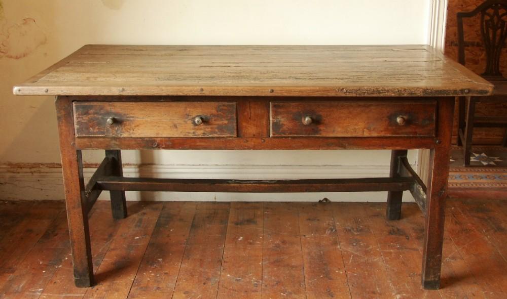 welsh oak and ash farmhouse side table c1750