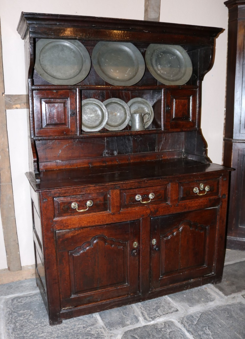 small and rare welsh oak dresser circa 1730