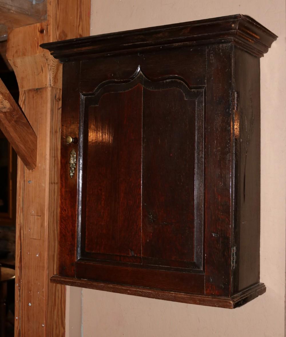 welsh oak wallhanging spice cupboard circa 1760