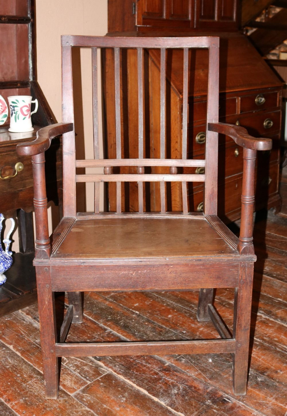 welsh oak armchair of large proportions carmarthenshire circa 1790