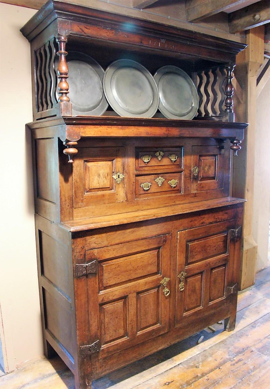 rare small yewwood cwpwrdd tridarn threepart cupboard snowdonia dated 1730