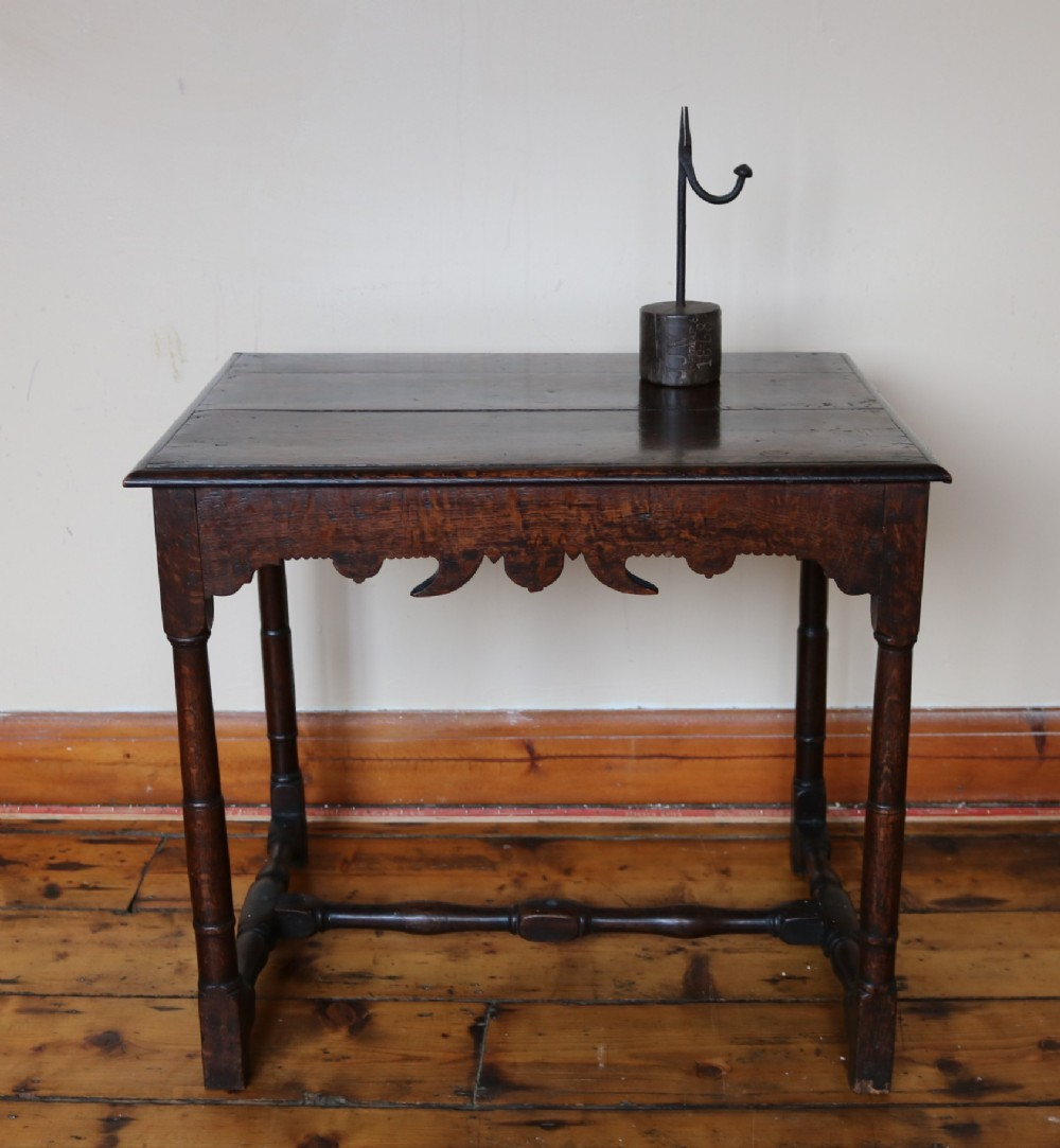 low welsh oak centre or side table circa 1760