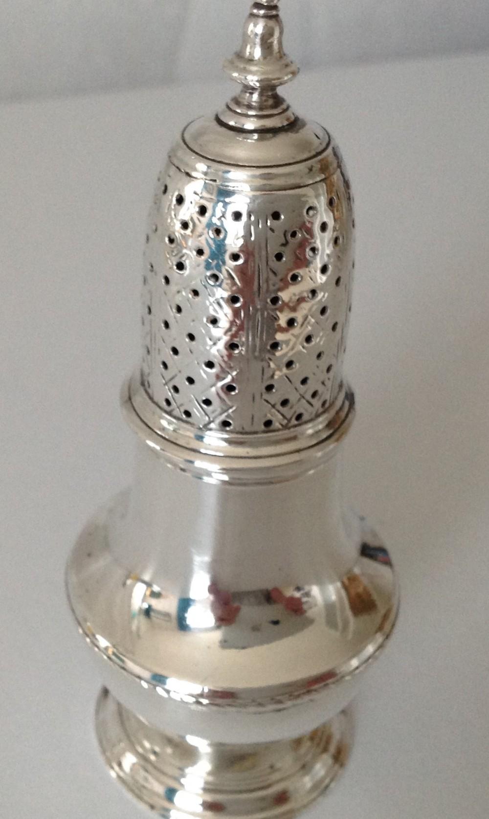antique george 11 hallmarked mufineercaster 1746
