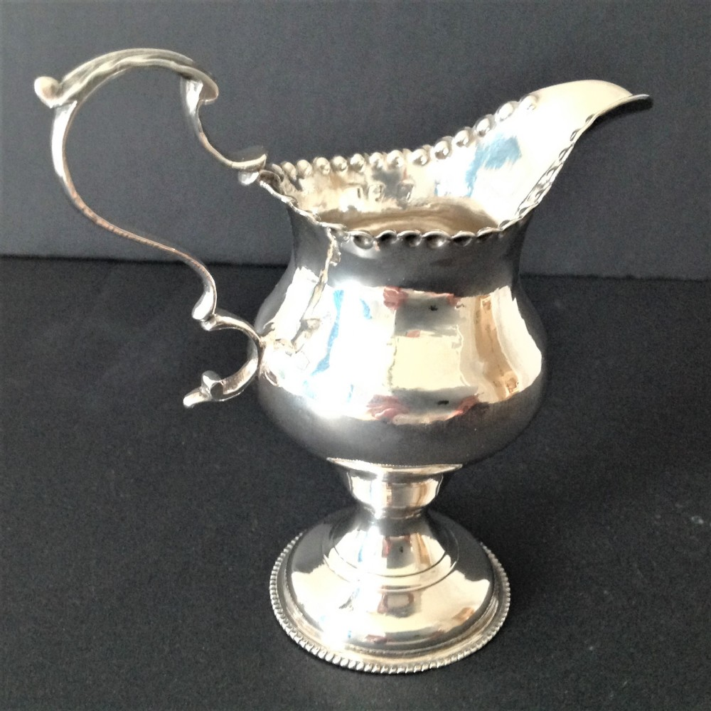 hester bateman antique georgian silver creamermilk jug 1777