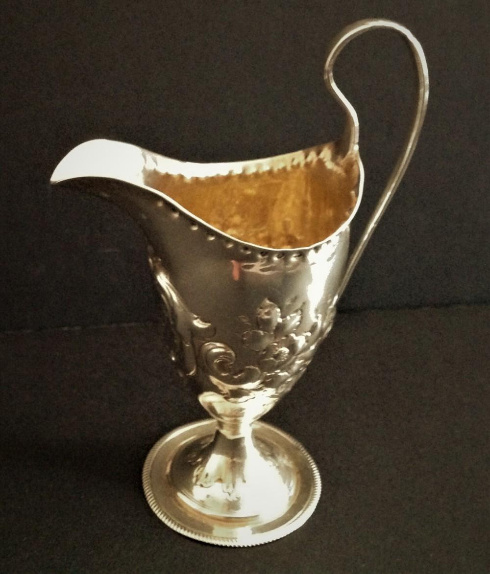 hester bateman antique georgian silver creamer 1789