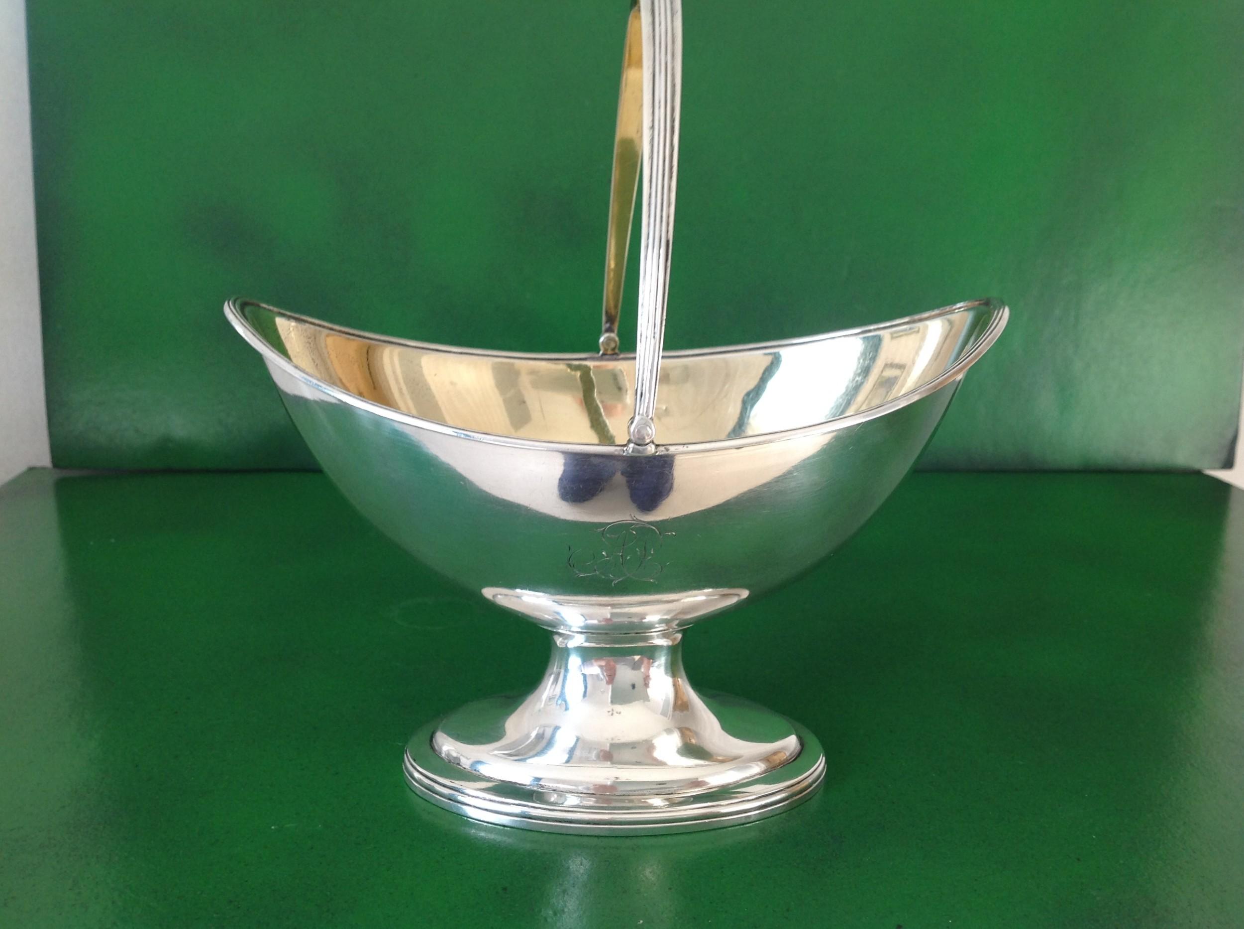hester bateman antique georgian silver sugar basket 1786