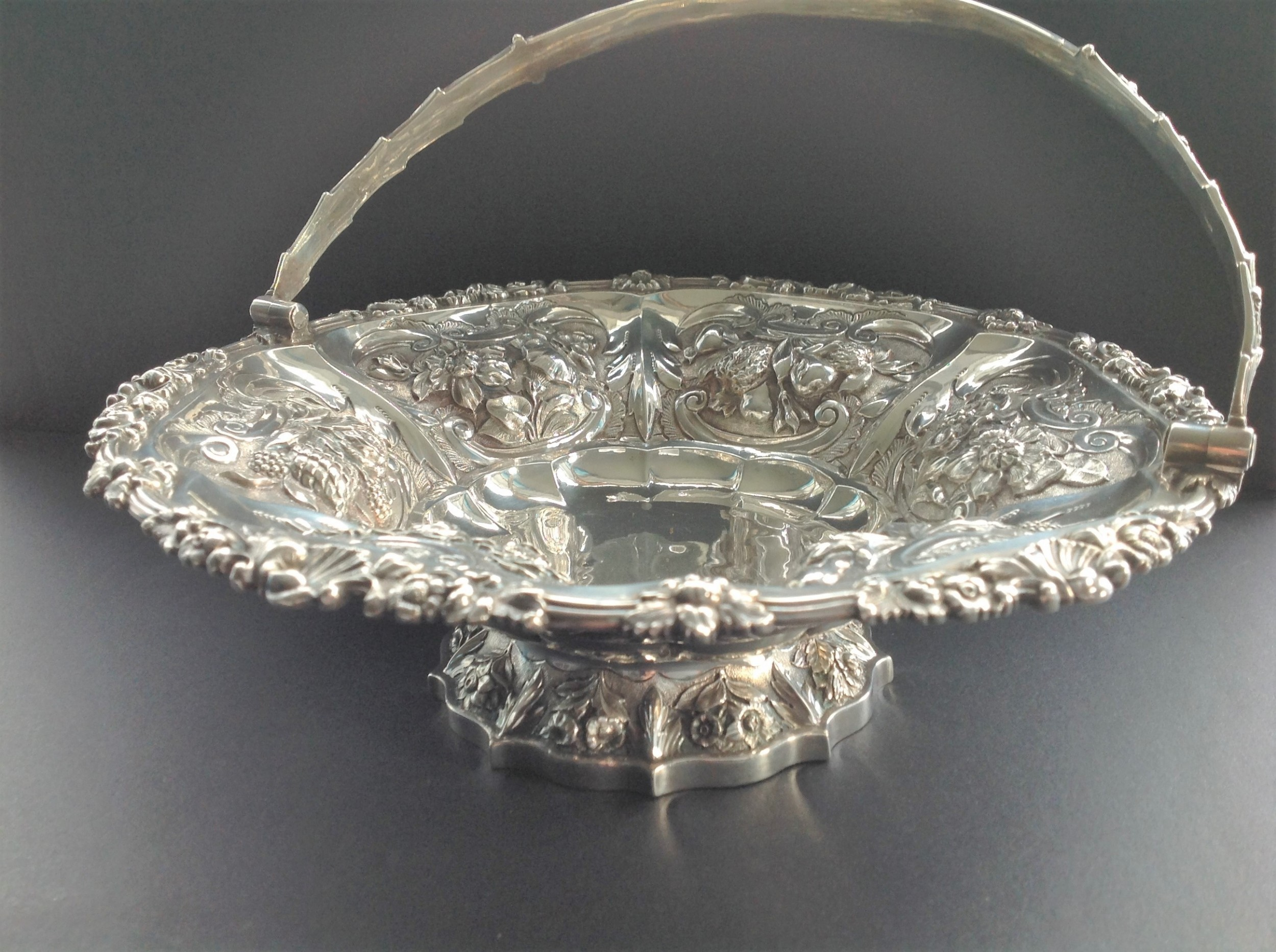 stunning antique georgian silver basket 1826 emes barnard