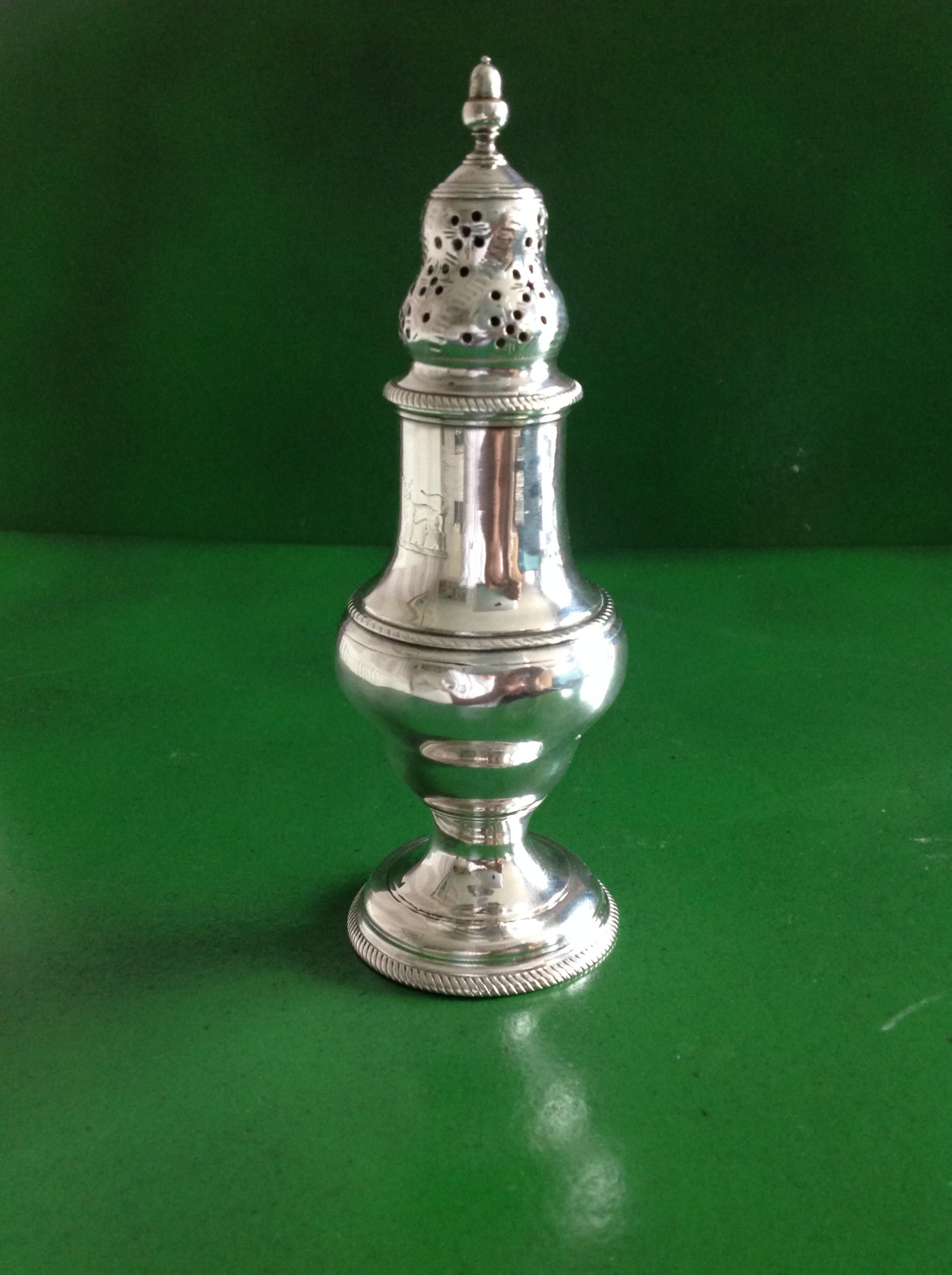 tall antique georgian silver caster daniell 1782