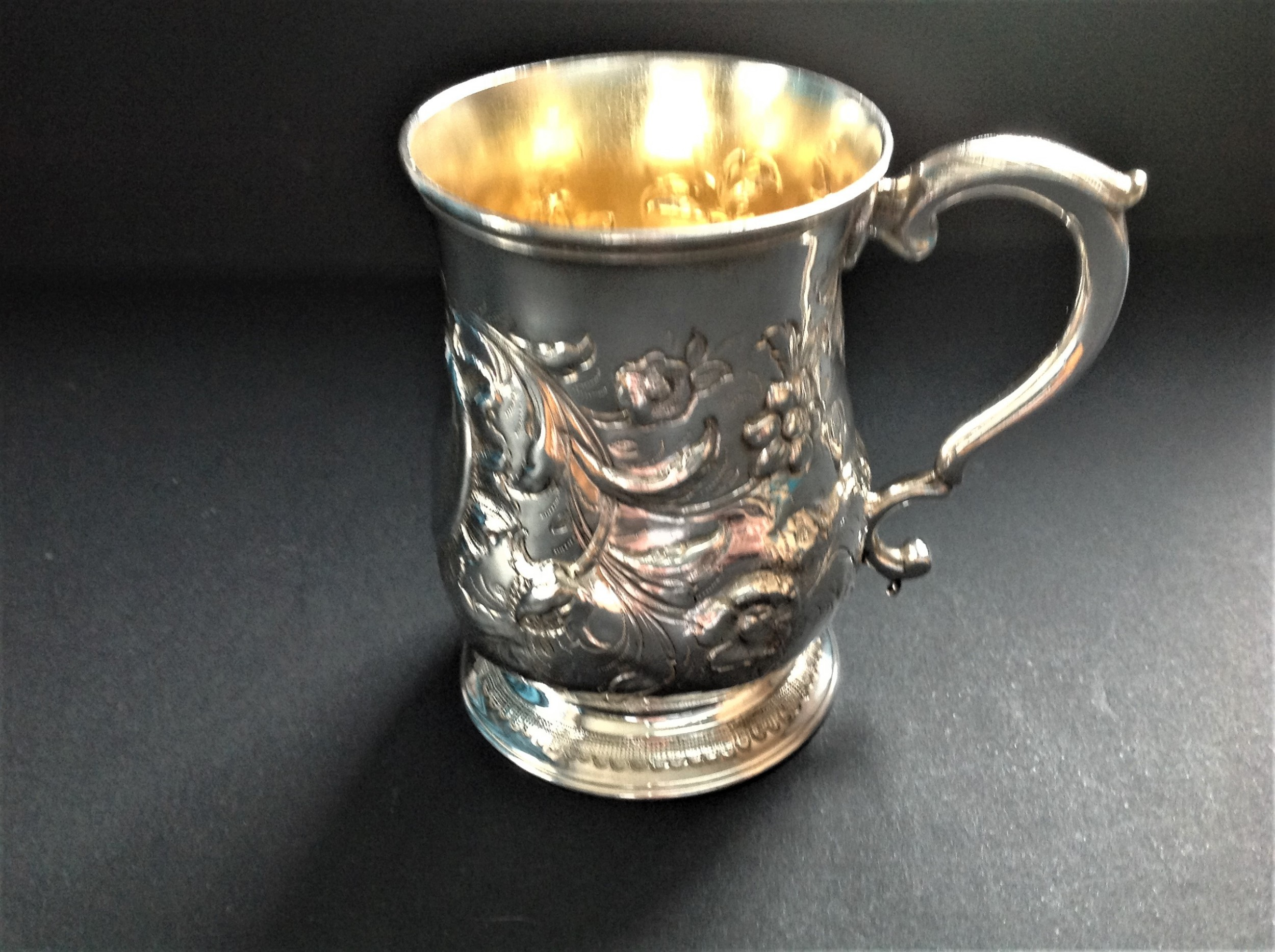antique georgian silver mug 1774