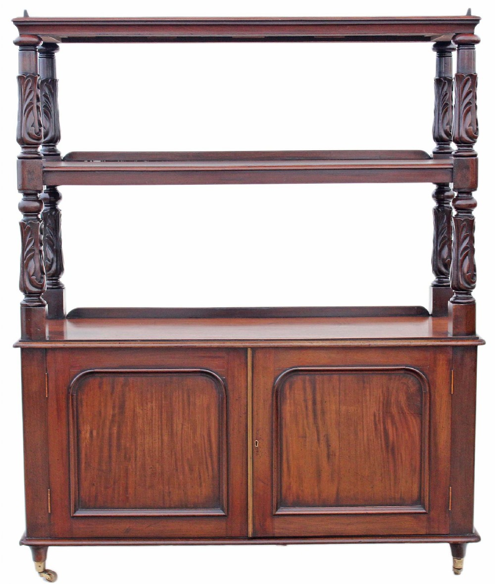 victorian carved mahogany buffet serving table