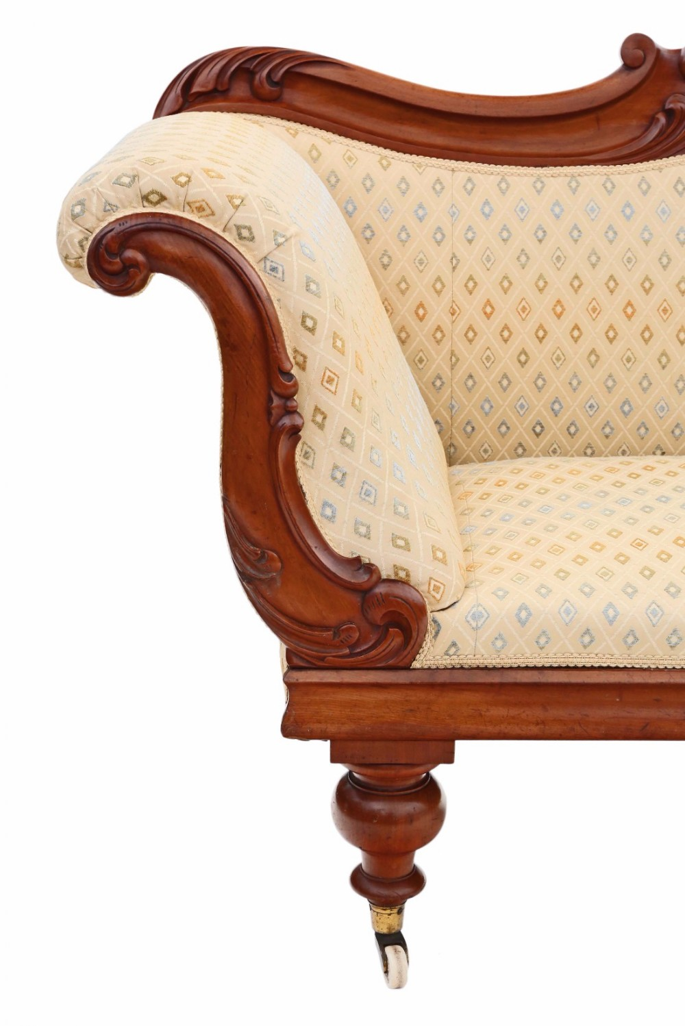 William iv scroll arm sofa chaise longue mahogany 452121 for Antique chaise longue uk