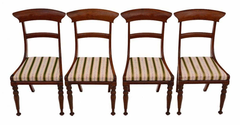 set of 4 regency rosewood dining chairs
