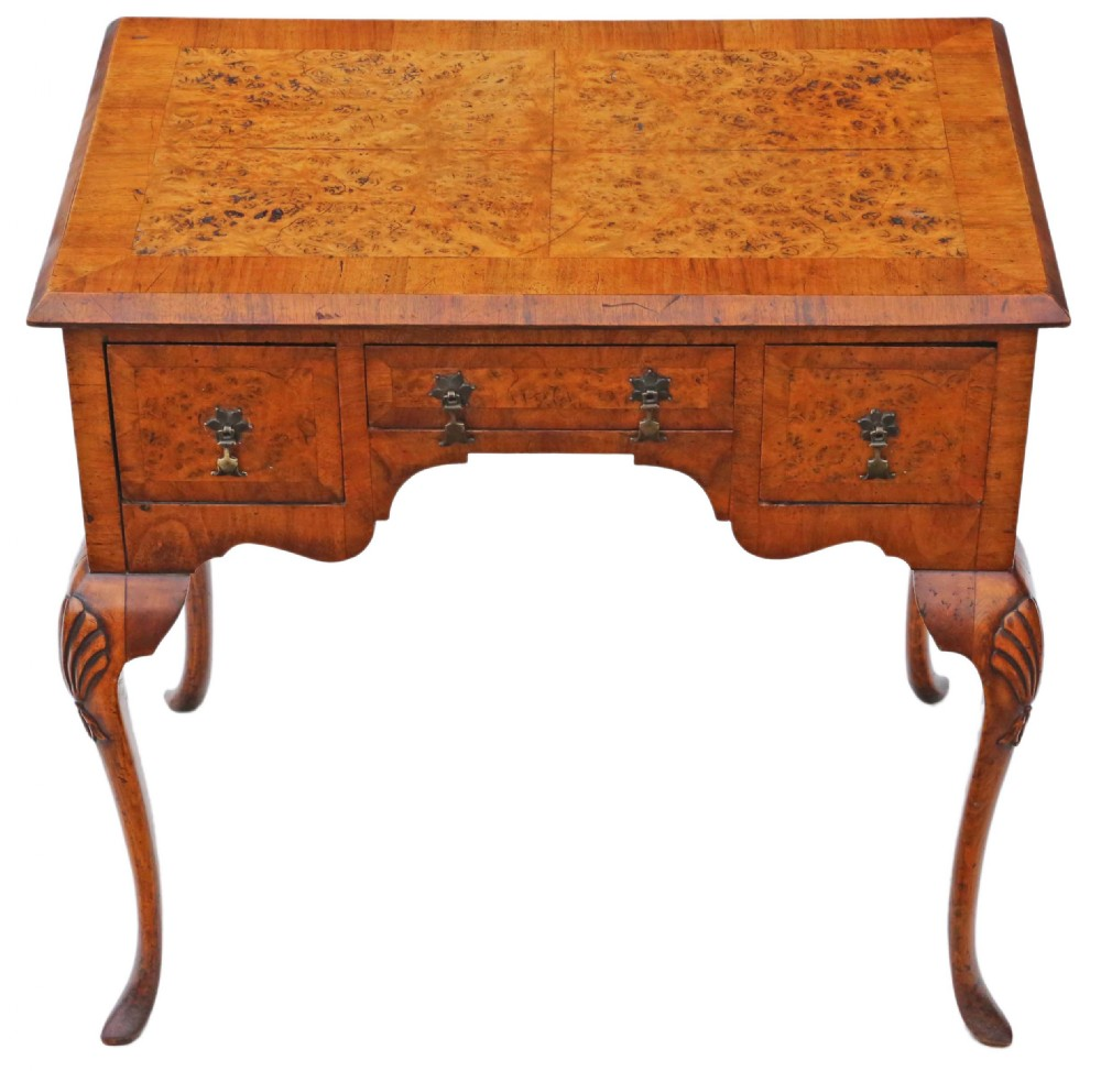 walnut lowboy writing side table