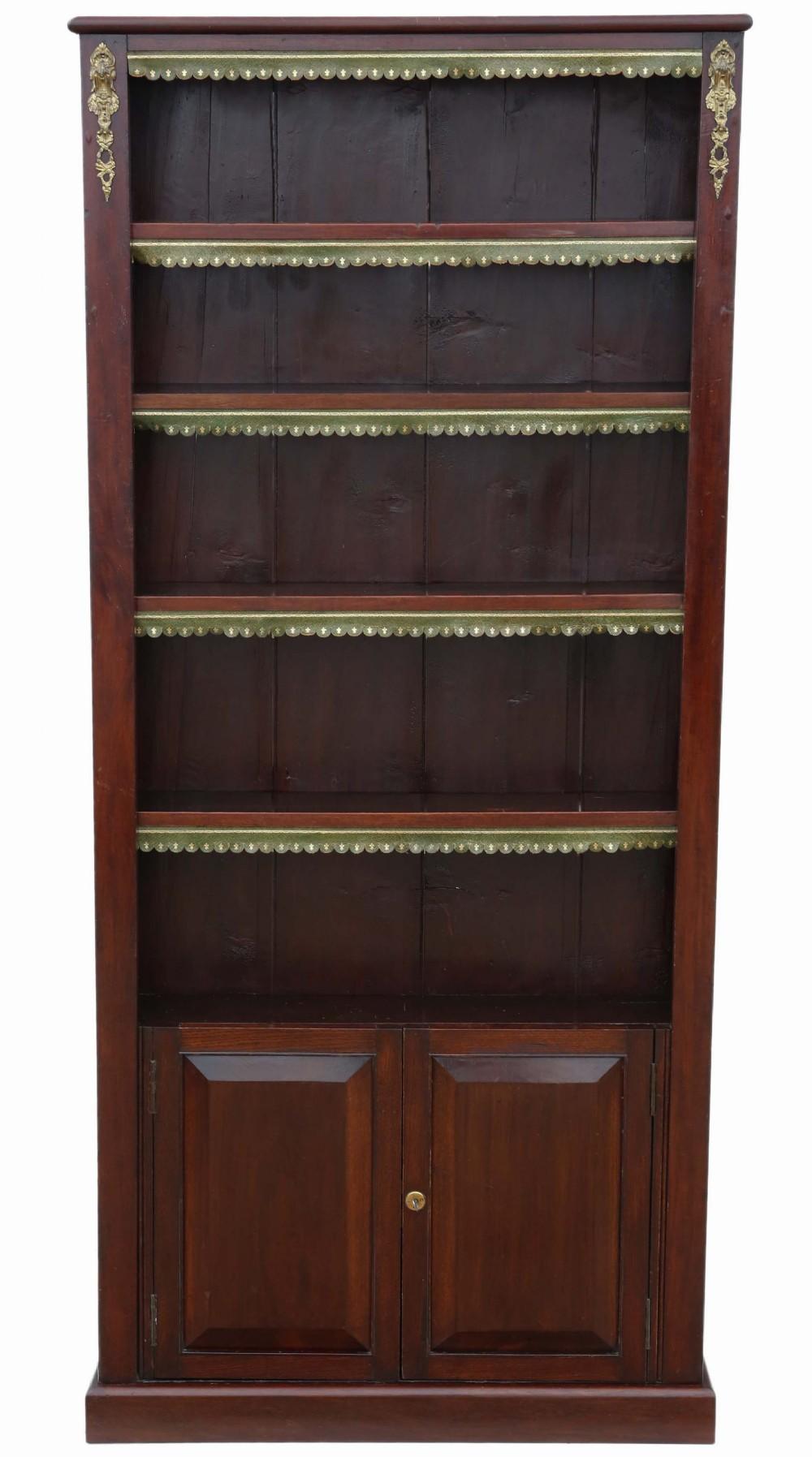 victorian tall adjustable bookcase
