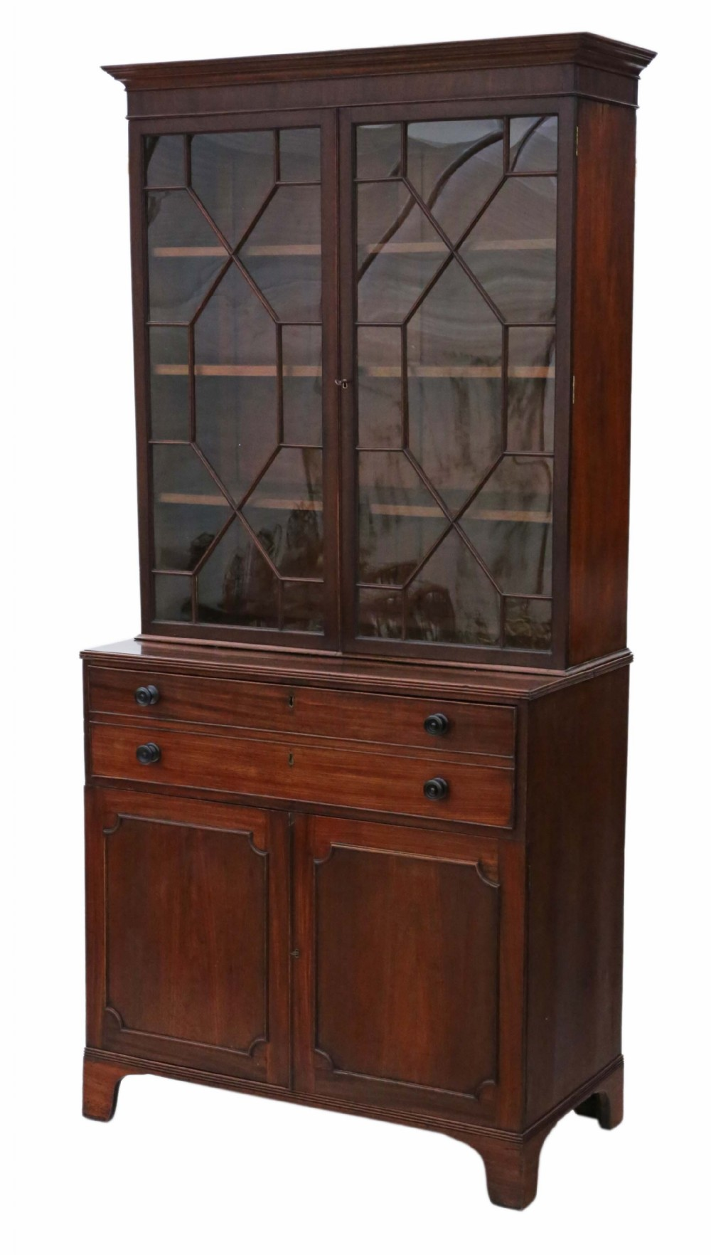 georgian mahogany secretaire writing bookcase