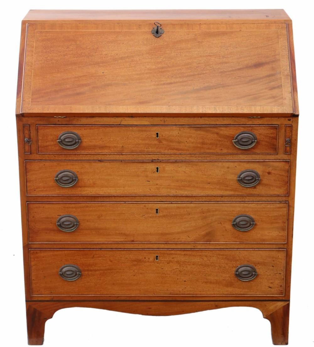 georgian c1800 mahogany bureau