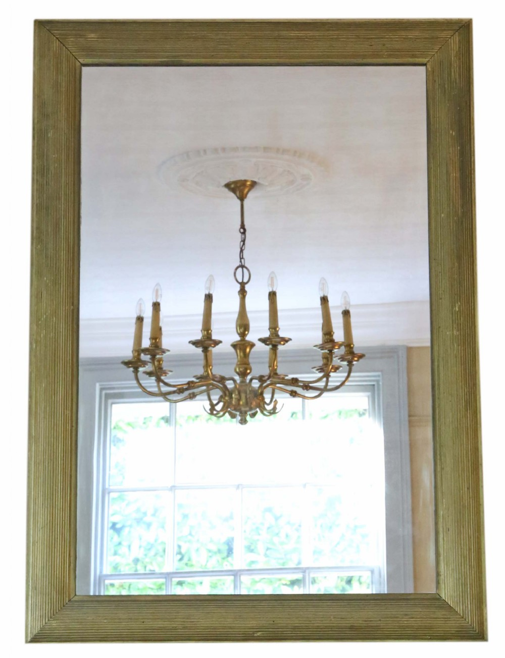 antique large quality gilt overmantle or wall mirror c19001920 art deco