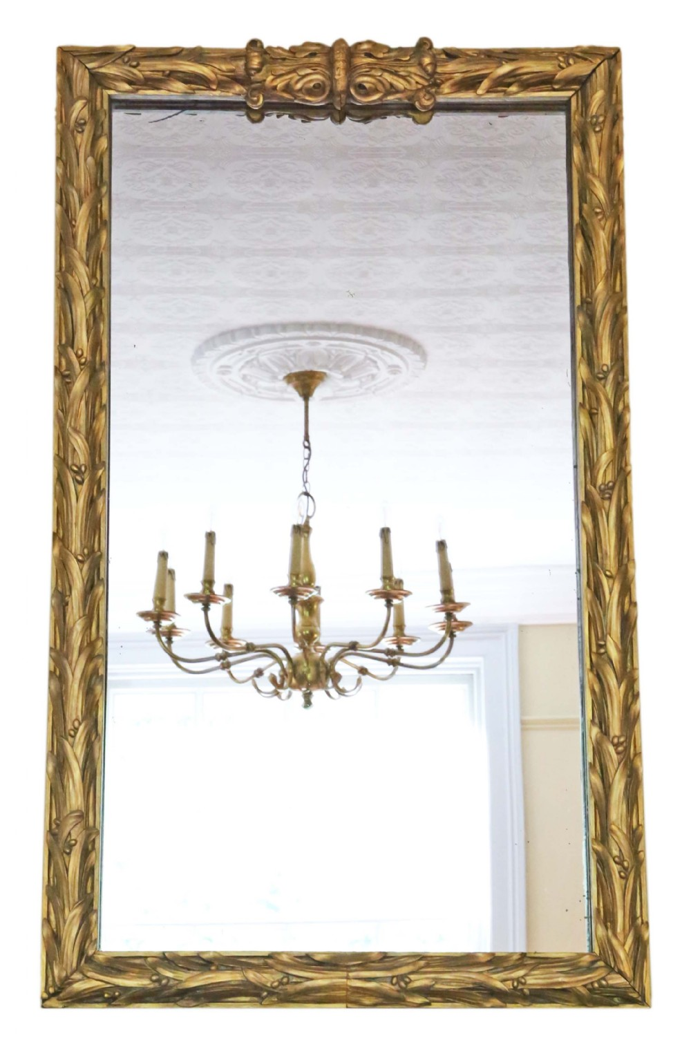 large 19th century giltwood wall floor mirror