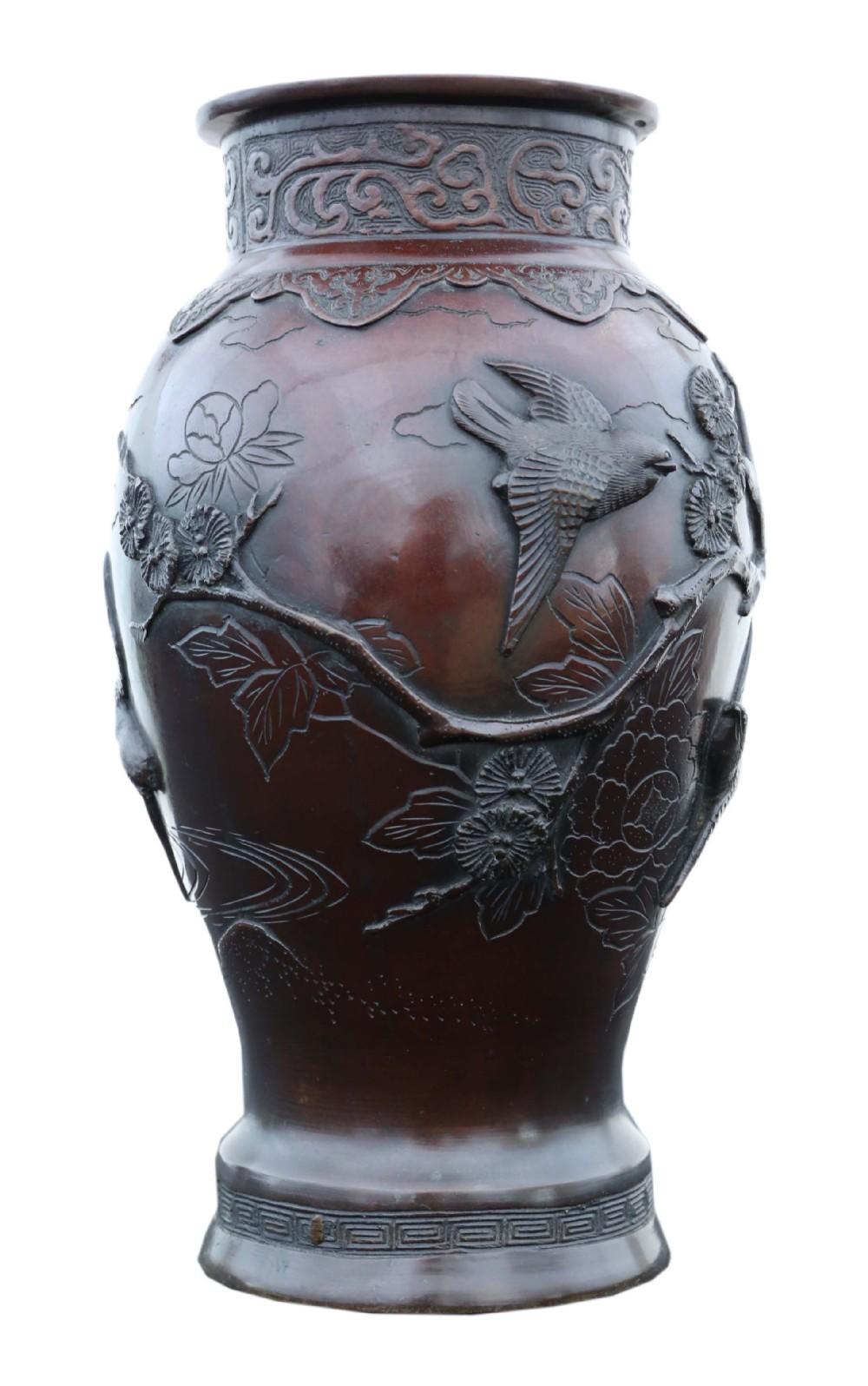 japanese bronze vase meiji period