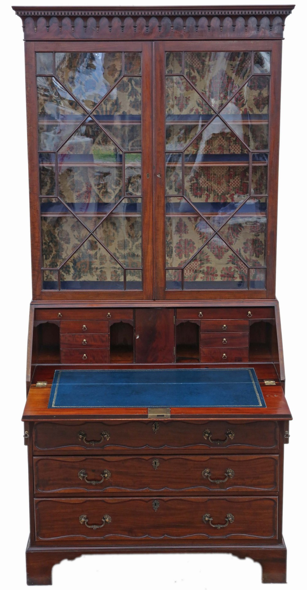 william iv mahogany glazed bureau bookcase