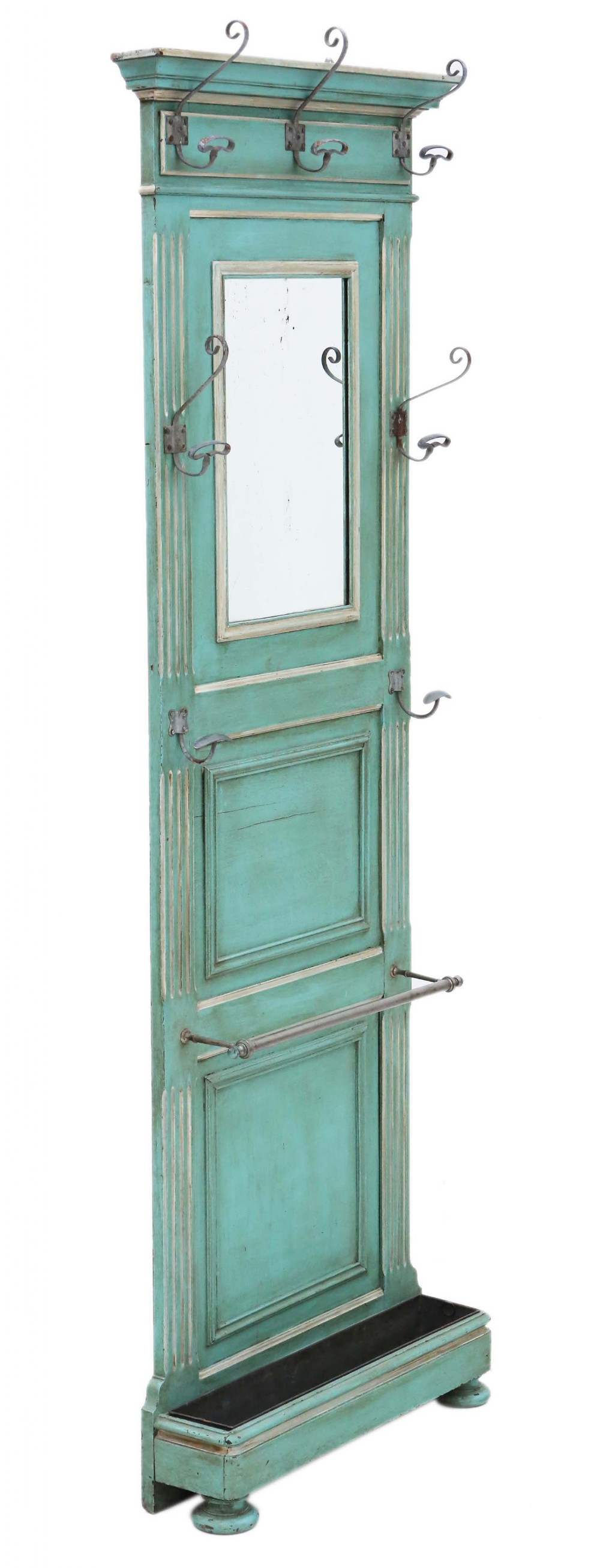 french painted hall coat hat stick umbrella stand