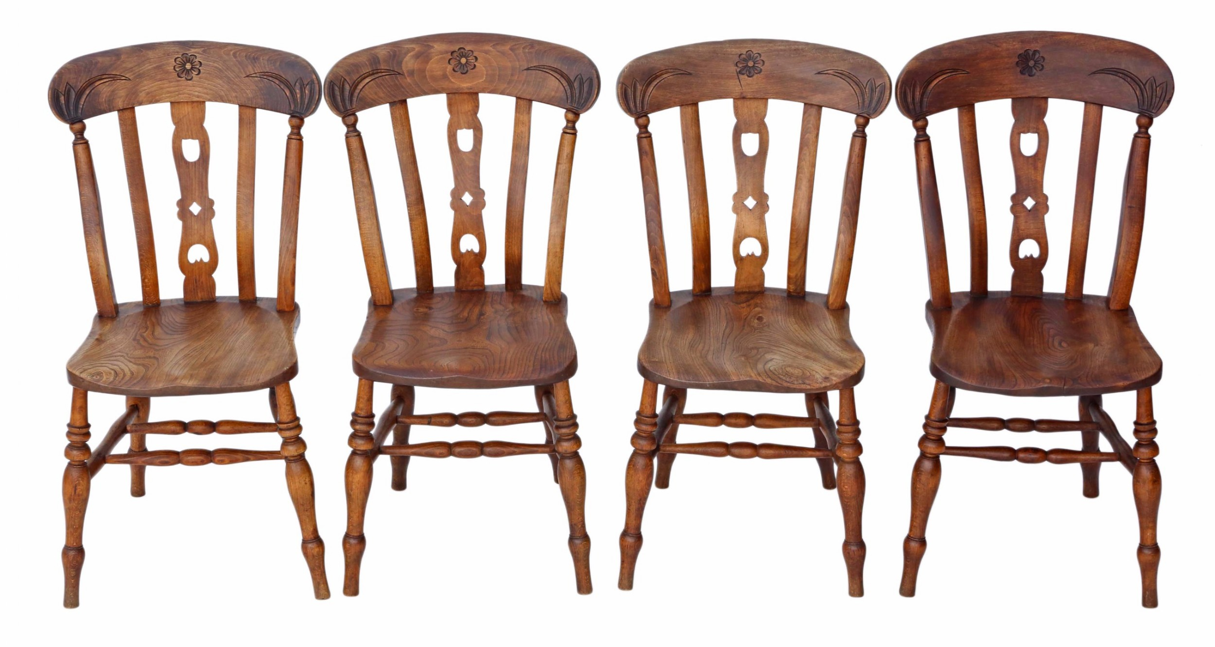 Set Of 4 Beech & Elm Kitchen Dining Chairs | 492551 ...