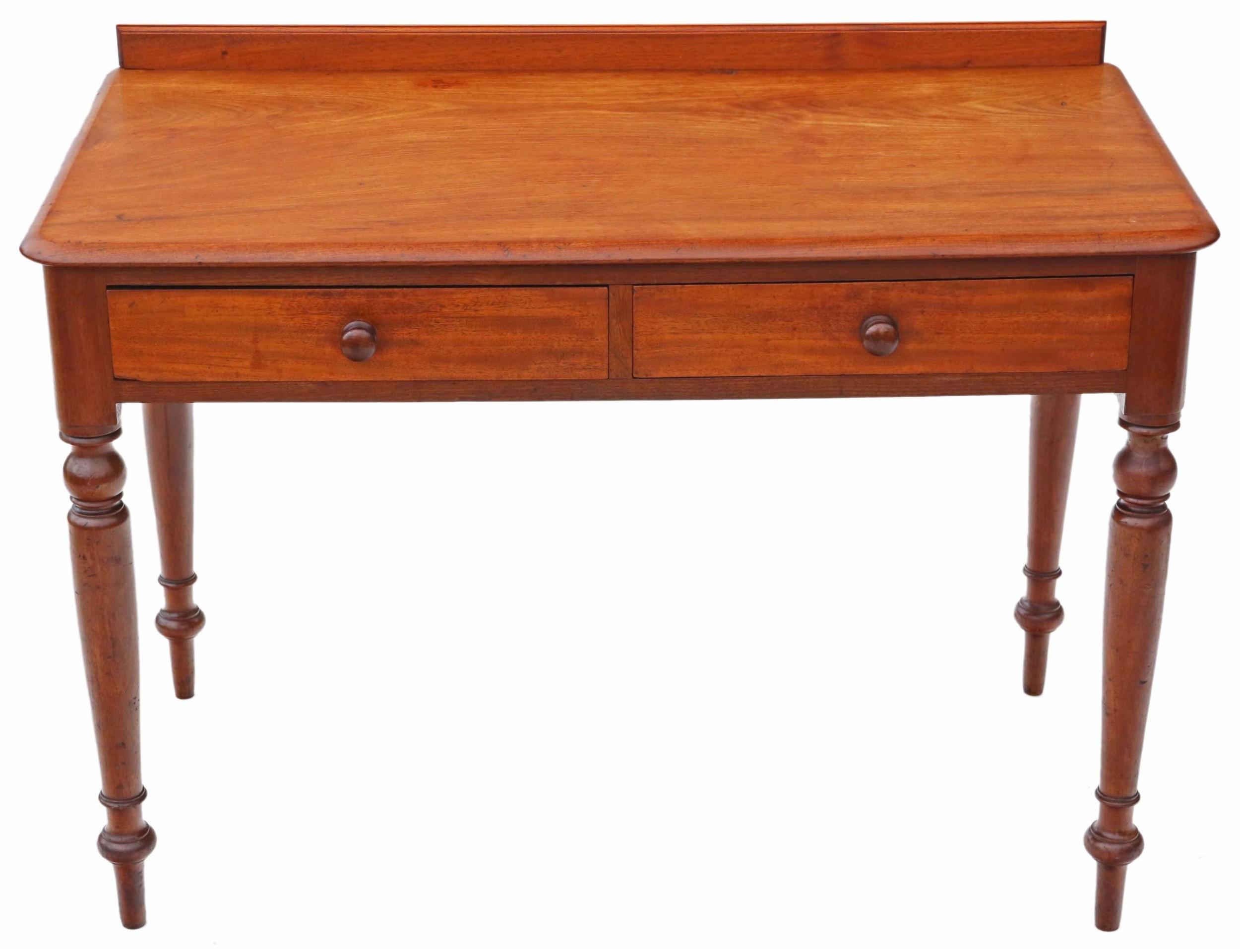 c1880 victorian mahogany writing desk