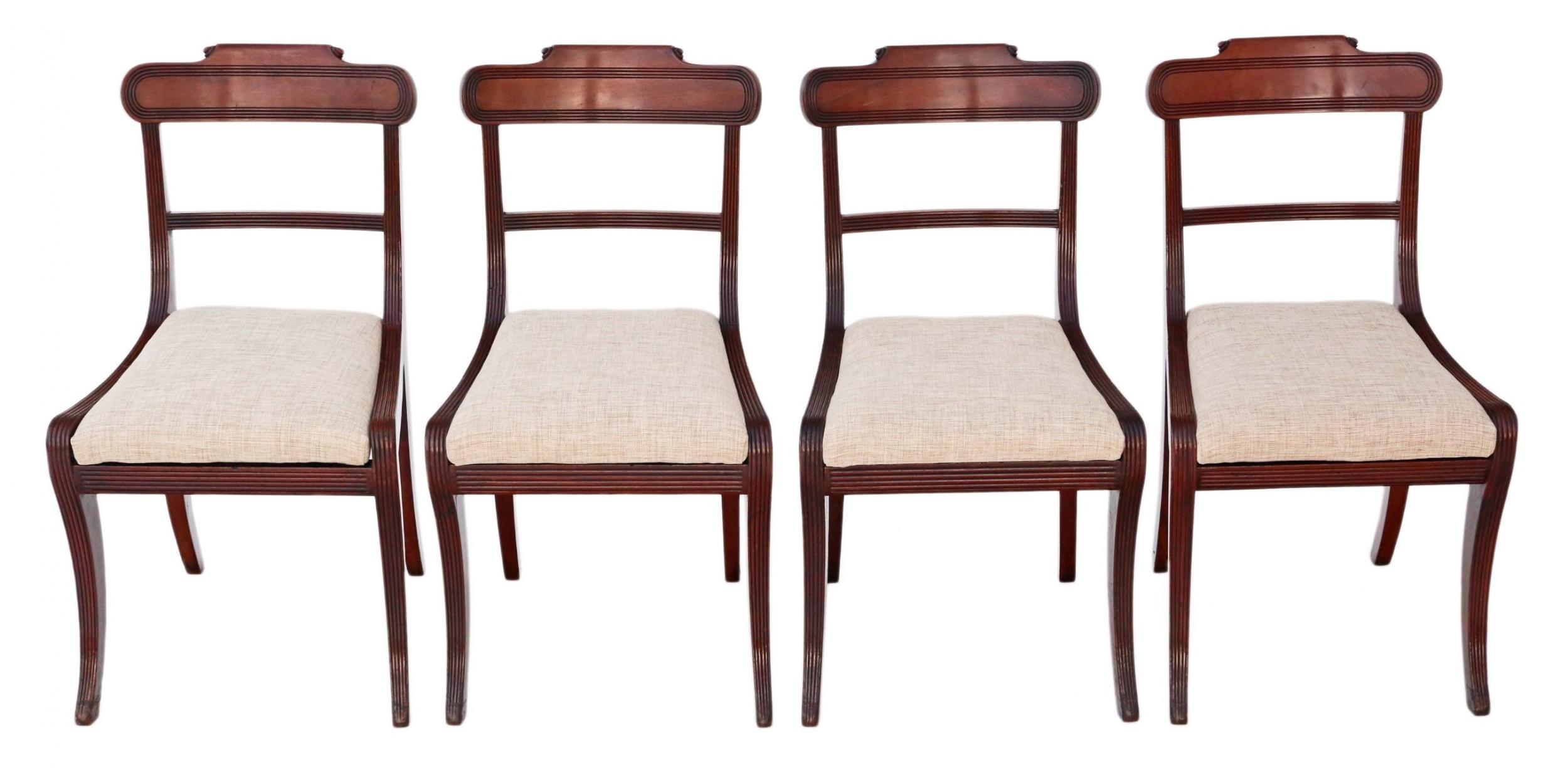 set of 4 regency mahogany dining chairs c1825