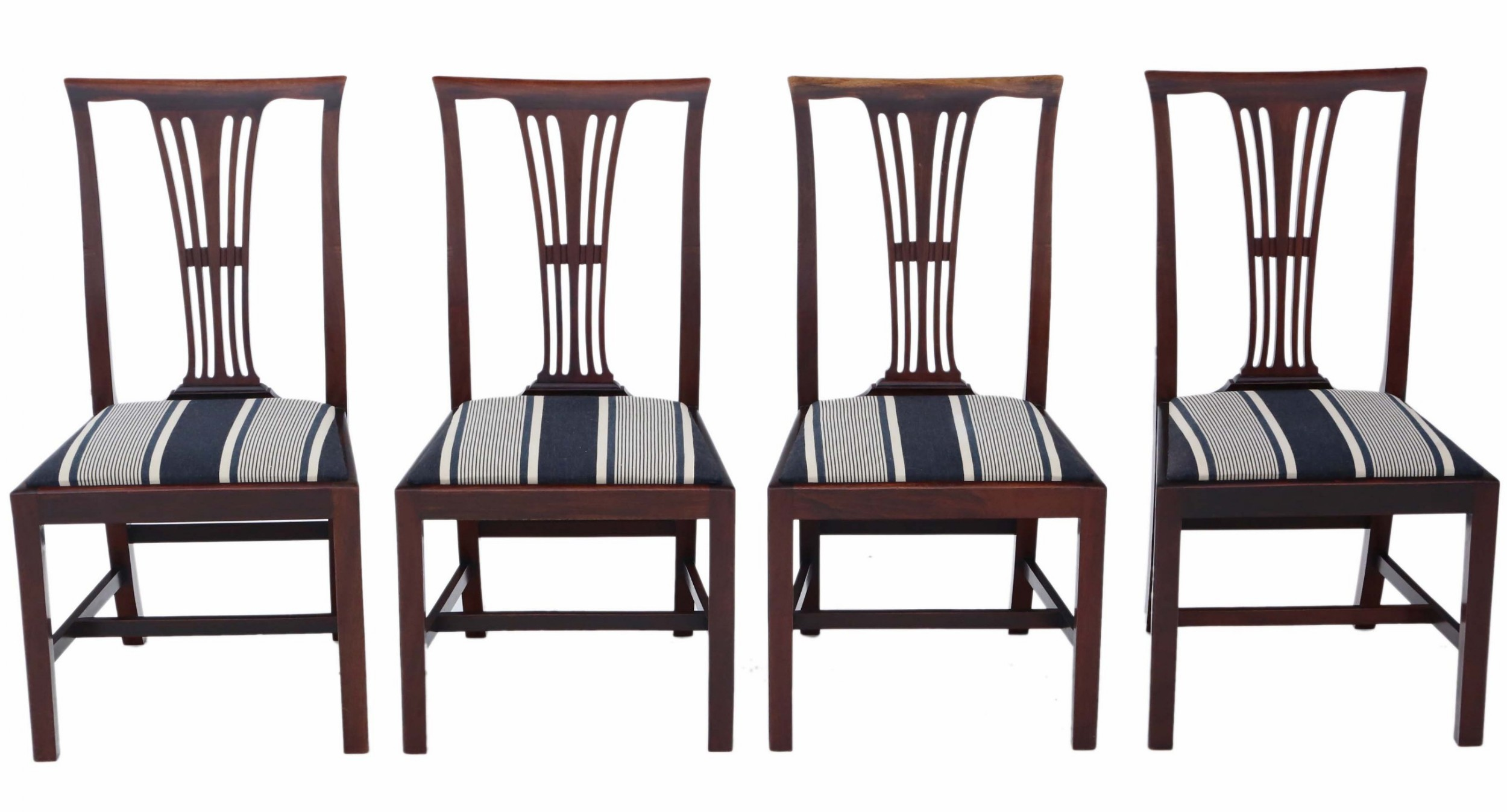 antique quality set of 4 victorian c1900 mahogany dining chairs