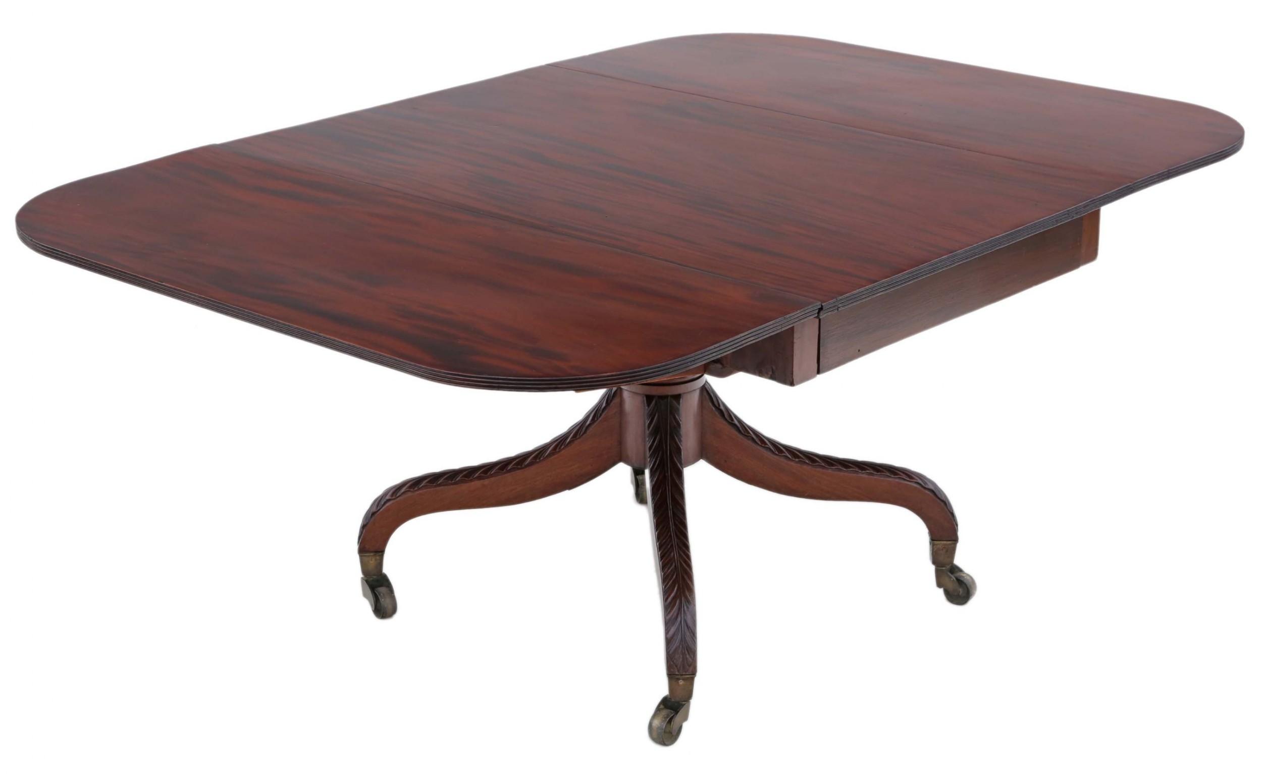 regency c1825 cuban mahogany drop leaf dining table