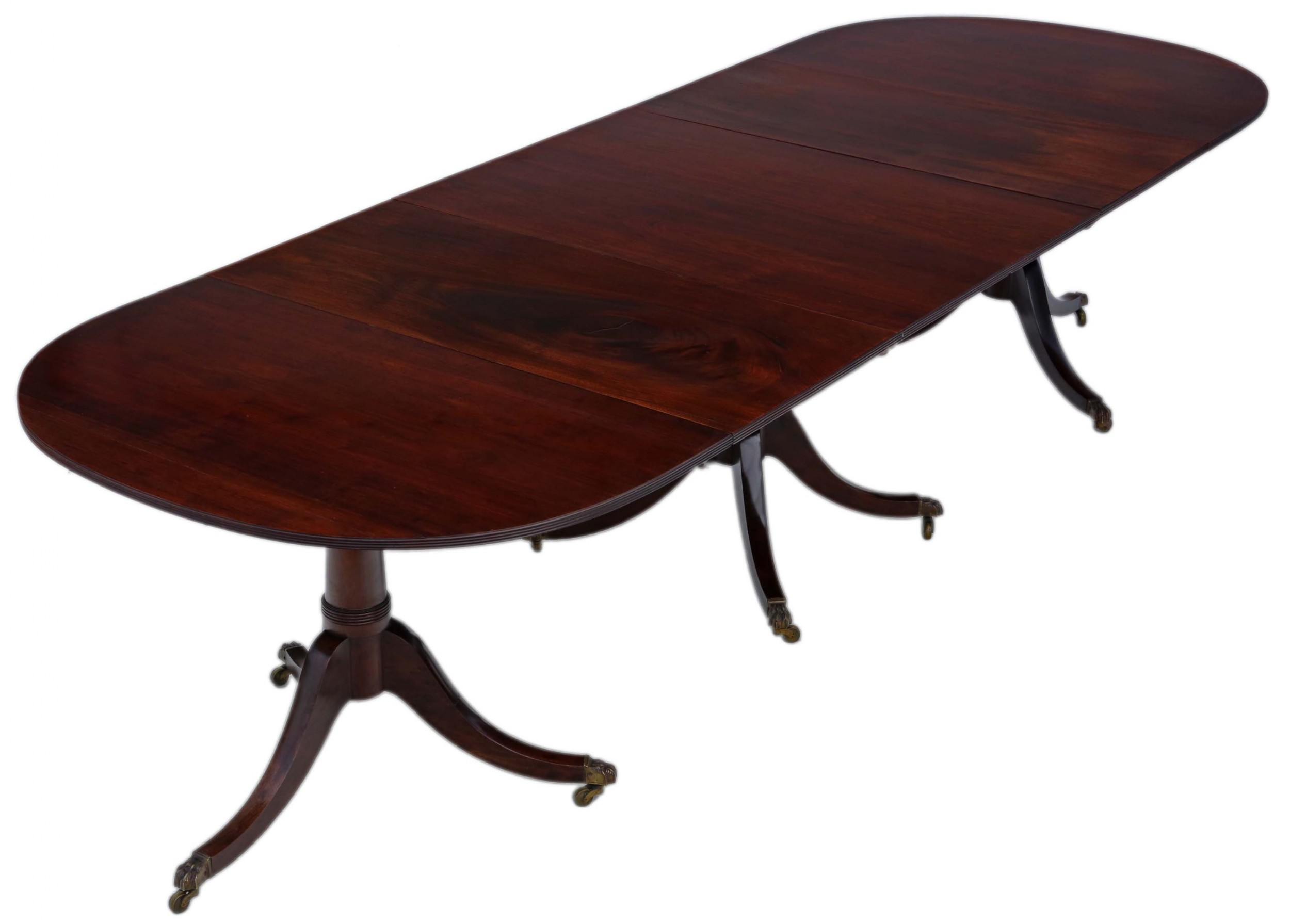 antique very large fine quality 10' cuban mahogany extending dining table
