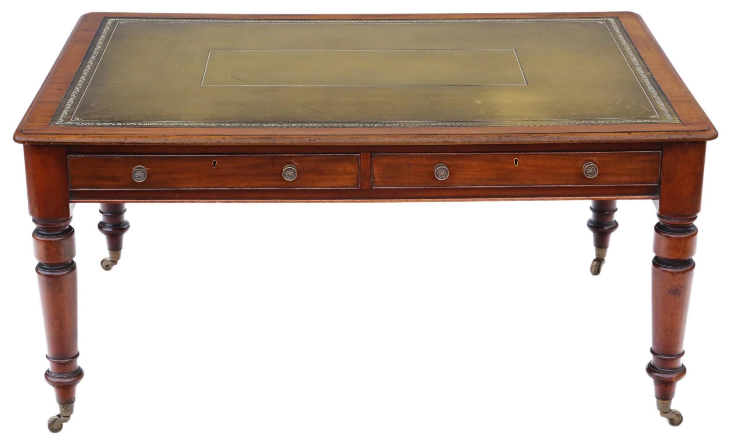 victorian mahogany partners' writing desk