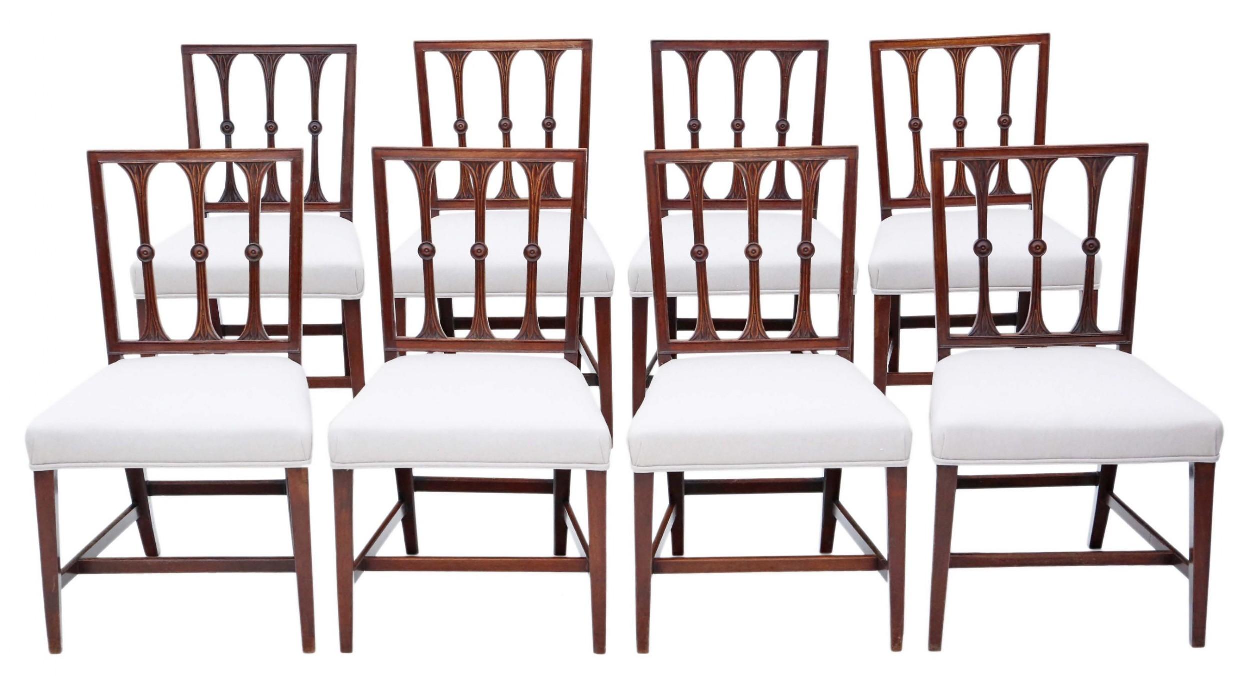 set of 8 georgian mahogany dining chairs
