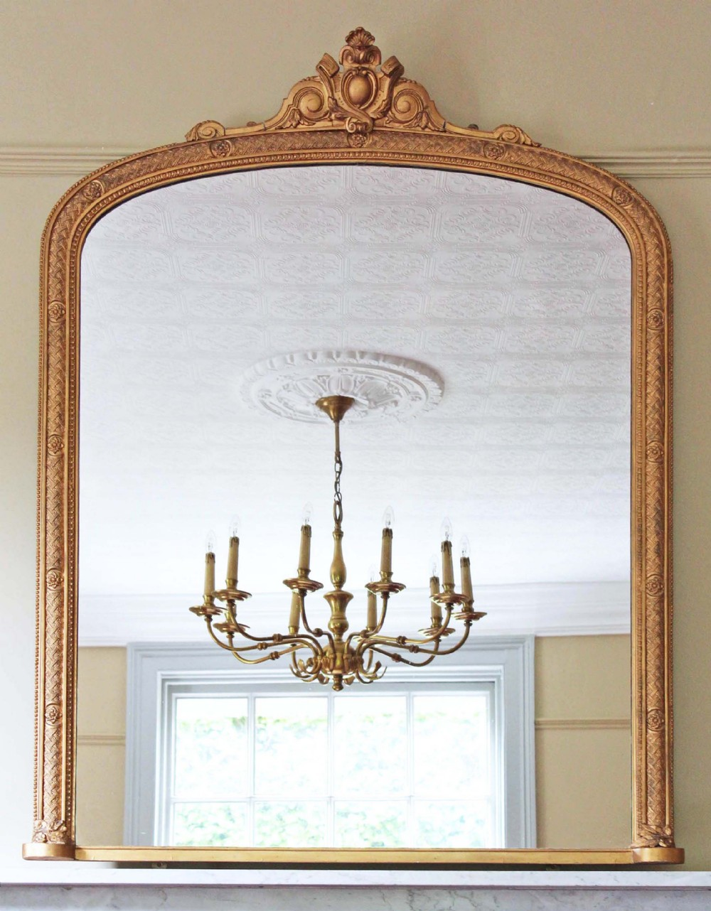 Victorian gilt overmantle wall mirror 357582 for Victorian mirror
