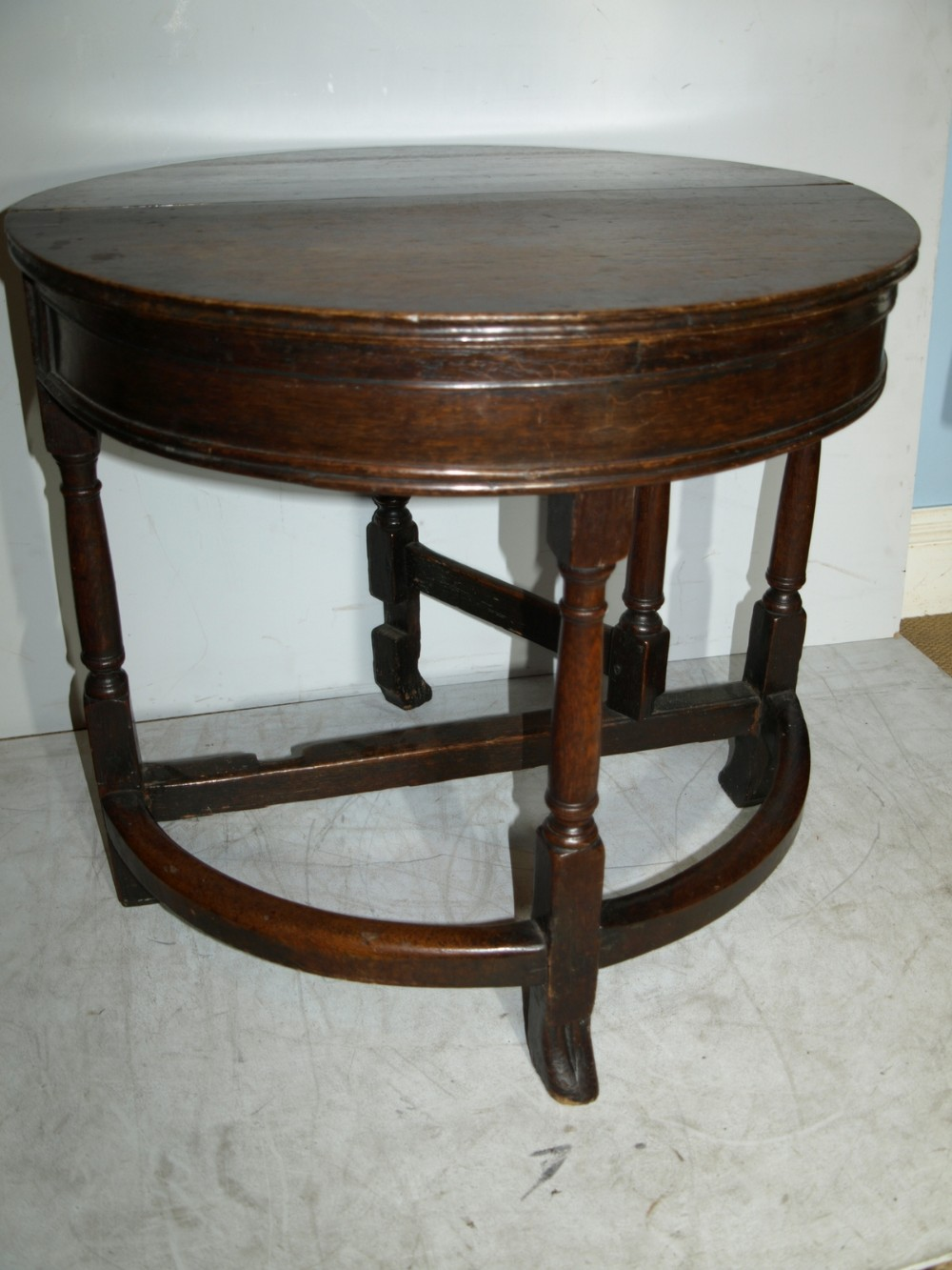 a mid to late 17th century oak box top gate leg table