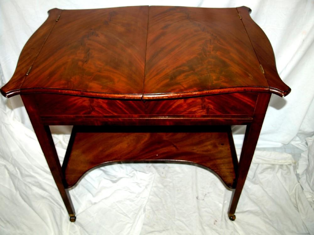 a inlaid flame mahogany thomas sheraton designed ladies dressing table of superb quality