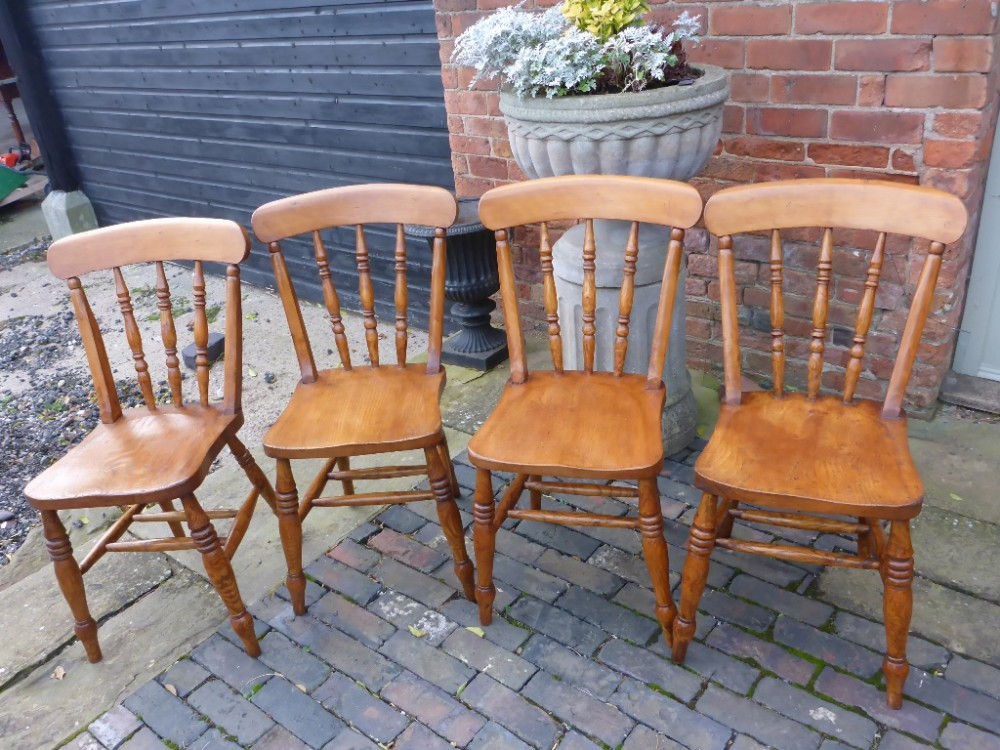 Antique Farmhouse Kitchen Dining Chairs | 252600 ...